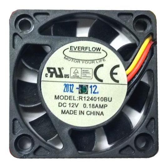 Everflow 40x40x10mm Ultra High Speed Dual Ball Bearing 3 Pin Fan-R124010BU - Coolerguys
