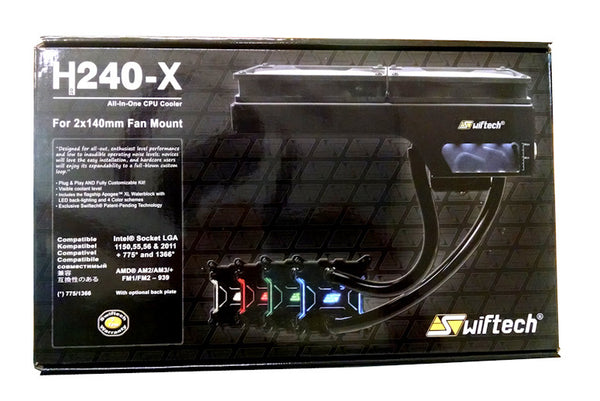 Swiftech  H240-X CPU Liquid Cooling Kit, FREE SHIPPING
