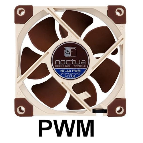 Noctua 80x80x25mm 12 Volt 4 Pin Fan NF-A8 PWM - Coolerguys