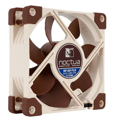 Noctua - NF-A8 FLX Fan 80x25mm 12V, 3 Pin