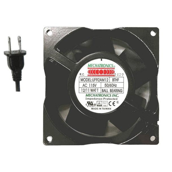 Mechatronics Hi-Temp rated 92mm High Speed AC fan # UF92AM12-BTHR-F