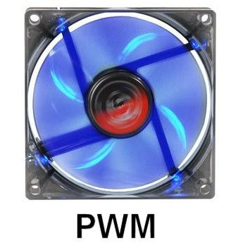 Spire Blue Star 120x120x25mm LED PWM Fan SP12025S1L4-B - Coolerguys