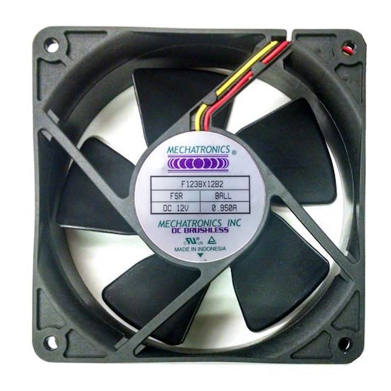 Mechatronics 120x120x38mm 12 Volt Fan with Locked Rotor Alarm F1238X12B2-FSR - Coolerguys