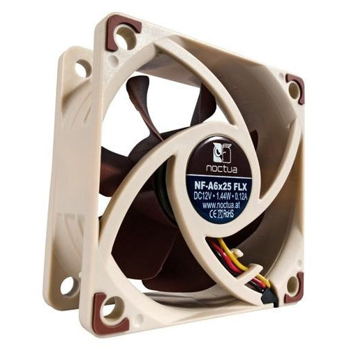 Noctua Quiet Computer Cooling 60x60x25mm Fan NF-A6x25 FLX - Coolerguys