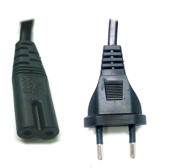 "EU 2 Prong 2.5A power cord plug ""Type C "" Molded Power Cord"