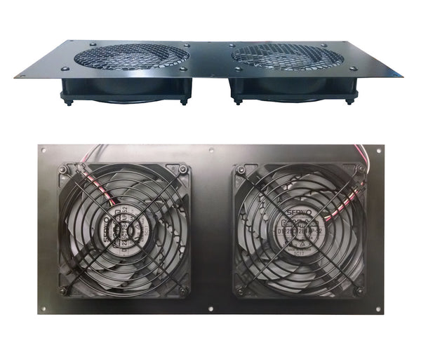 Coolerguys Dual Thermal control 120mm AV Cabinet Cooler with Gentle Typhoon Fans CABCOOL1202-MGTF