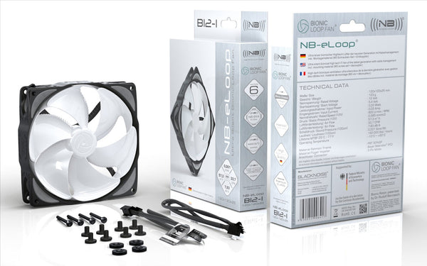 BLACKNOISE Blocker 120x25mm Bionic Loop Med Speed Fan 12V 3 wire/3 pin #B12-2