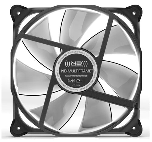 Black Noise Blocker 120x120x25mm NB-Multiframe M12-2 - Coolerguys