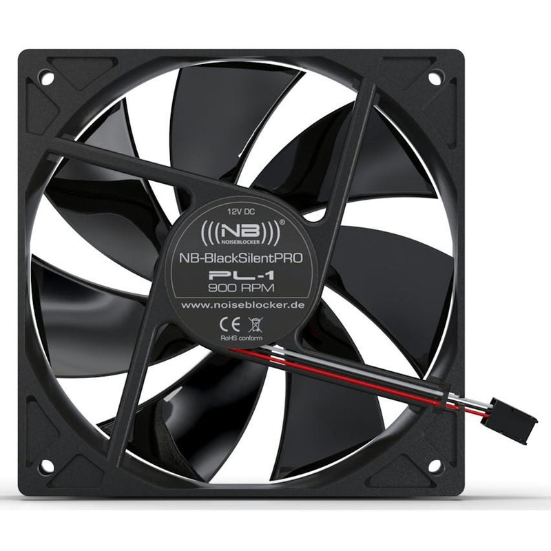 Black Noise Blocker 120x120x25mm NB-Black Silent PRO Fan PL-2 - Coolerguys