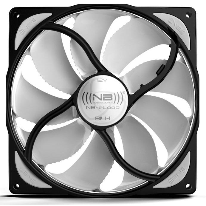 Black Noise Blocker 140x140x29mm Bionic Loop Low Speed Fan B14-1 - Coolerguys