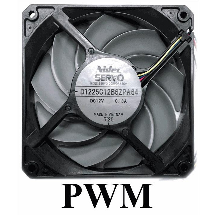 GentleTyphoon 120mm Silent Case Fan Series D1225C12B6ZPA 2150 RPM PWM Fan - Coolerguys