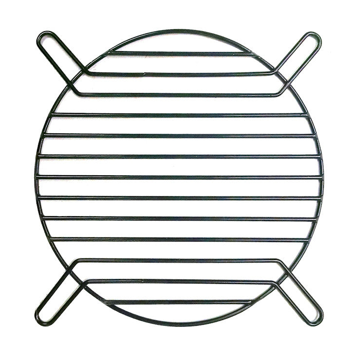 120mm Straight Wire Finger Grill-Black - Coolerguys