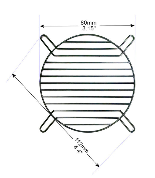 80mm Straight Wire Finger grill-Black