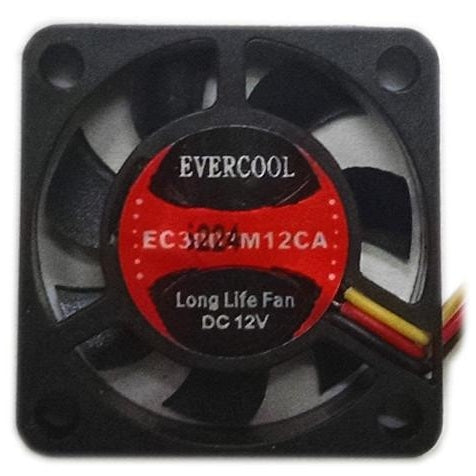 Evercool 30x30x7mm Medium Speed 3 Pin 12 Volt Fan-EC3007M12CA - Coolerguys