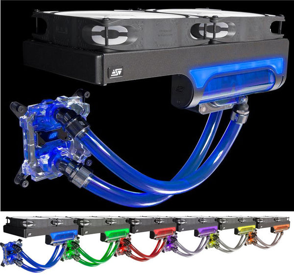 Swiftech H240 X2 Dual 140 mm All-In-One CPU Liquid Cooling Kit (All-In-One kits) Prestige