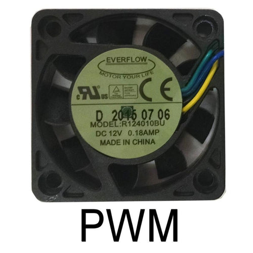 Everflow 40x40x10mm PWM Ultra High Speed Dual Ball Bearing Fan-R124010BU - Coolerguys