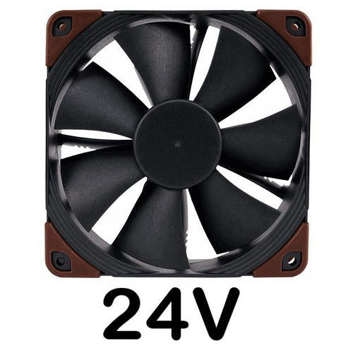 Noctua 120x120x25mm NF-F12 Industrial PPC-24V-2000 Q100 IP67 PWM  Fan - Coolerguys