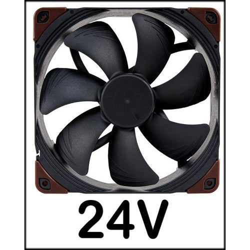 Noctua 140x140x25mm NF-A14 Industrial PPC-24V-2000 IP67 PWM Fan NFA14IPPC24V20PIP67 - Coolerguys