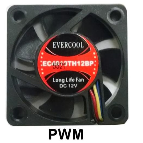 Evercool 40x40x10mm 12V Dual Ball  PWM Fan-EC4010TH12BP - Coolerguys
