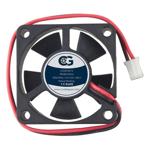 Coolerguys 35mm (35x35x10)  12V DC Small High Speed Cooling Fan - Coolerguys