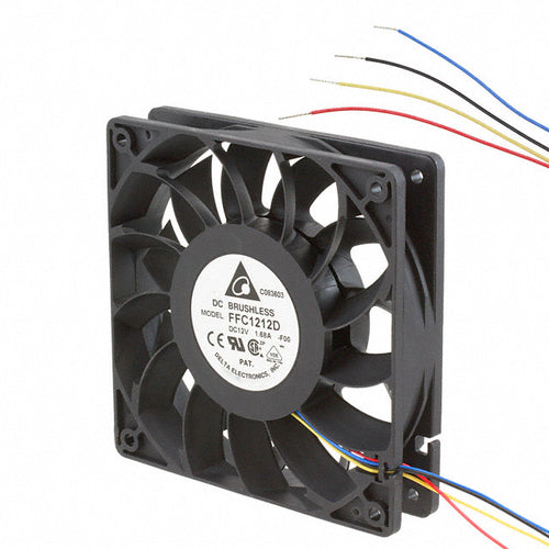 Delta 120x120x25mm FFC1212D-PWM High Quality Brushless DC Air Cooling Fan - Coolerguys