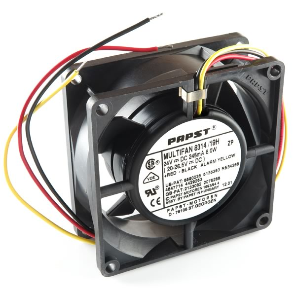 EBM-Papst 80mm (80x80x32) 24v Fan with Alarm 8314/19H - Coolerguys