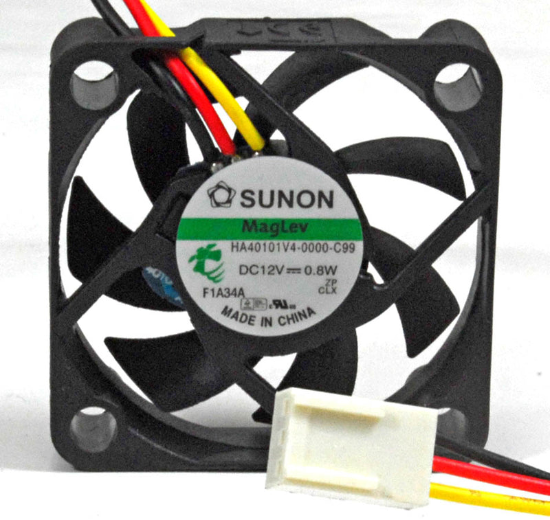 Sunon 40x40x10mm Super Silent HA40101V4-0000-C99 with 3pin Connector - Coolerguys