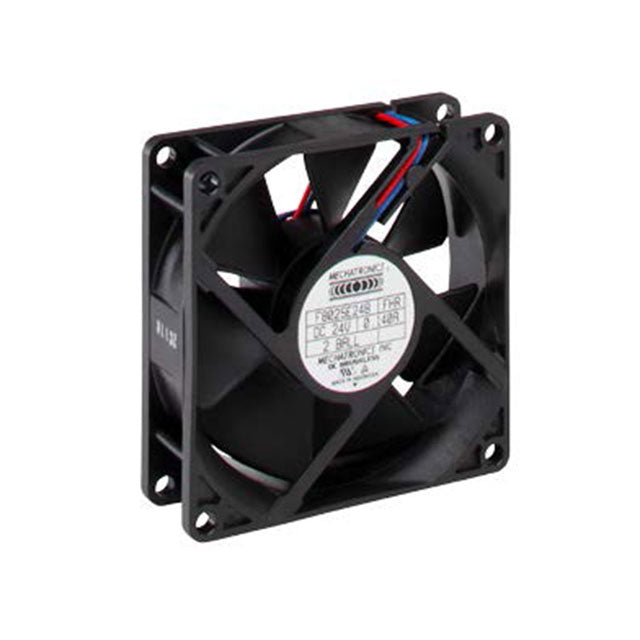 Mechatronics 12v 80x25mm (80x80x25) Thermal Controlled Fan F8025E12B3-FSR - Coolerguys