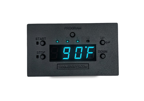 Coolerguys Programmable Fan Thermostat Controller with Staggered Interval Settings - Coolerguys