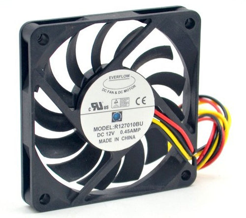Everflow 70x70x10mm Ultra High Speed 12v 3Pin Fan R127010BU