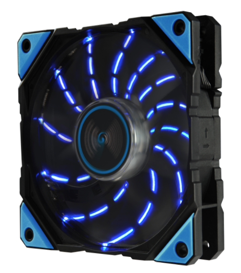 Enermax DF Vegas Model 120x120x25mm Blue LED Adjustable Fan UCDFV12P-BL