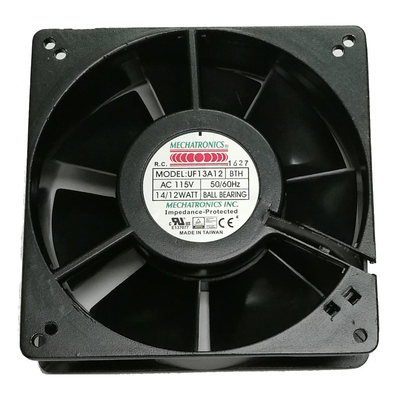 Mechatronics 127x127x38mm High Speed 115 Volts AC Fan UF13A12-BTHR - Coolerguys