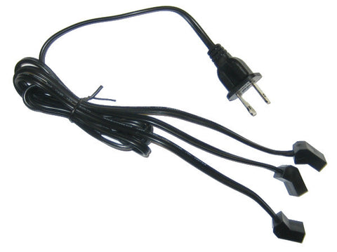 AC Power Fan Cord with split 3 Head Female Plugs