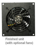 Coolerguys Bare Fan Bracket Kit for single hole 92mm (bare Kit) Multimedia Cabinet Cooling / Home Theaters.