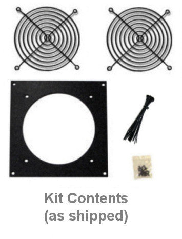Coolerguys Bare Fan Bracket Kit for single hole 92mm (bare Kit) Multimedia Cabinet Cooling / Home Theaters. - Coolerguys