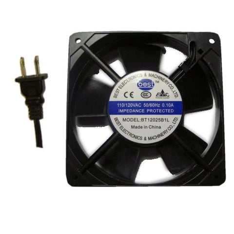Best Electronics dual ball bearing 120mm X 25MM low speed AC Fan # BT12025B1L