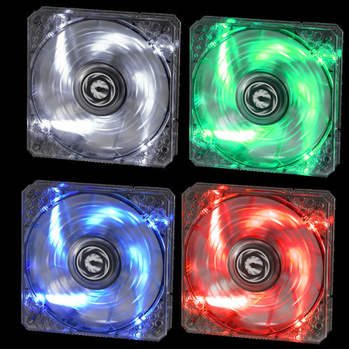 BitFenix Spectre Pro 120mm 12V Fan LED Series Red, Blue, White and Green  BFF-LPRO-12025