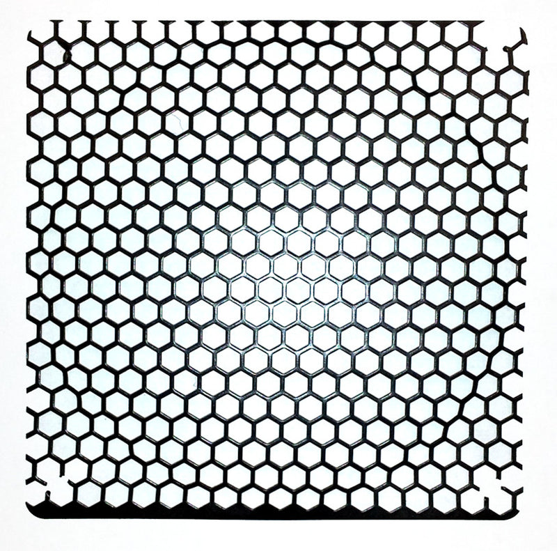 Black 120mm Mesh Grill with Honeycomb 6mm holes