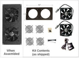 CabCool 1202 Lite 5 volt  Dual 120mm Fan Cooler Kit for Cabinet / Home Theater