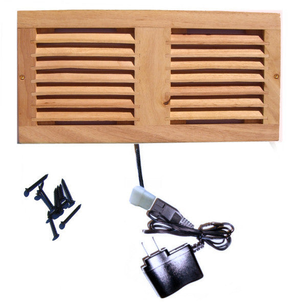 CabCool 1202W Lite 5 volt Dual 120mm Fan Cooler Kit with Wood Grill for Cabinet / Home Theater