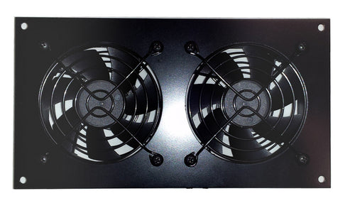 CabCool 802 Lite Dual 80mm Fan Cooling Kit for Cabinet & Home Theaters - Coolerguys