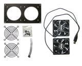 Cabcool 802U Dual 80mm USB Powered Cabinet Cooling Kit