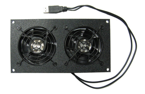 Cabcool 802U Dual 80mm USB Powered Cabinet Cooling Kit - Coolerguys
