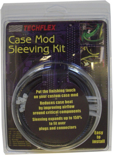 Carbon Techflex Cable Sleeving Kit - Coolerguys