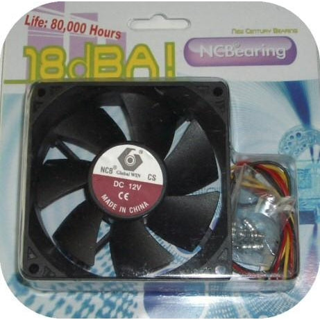 Ceramic Bearing Fan 80x80x25mm 18 DBA Shock Resistant - Coolerguys