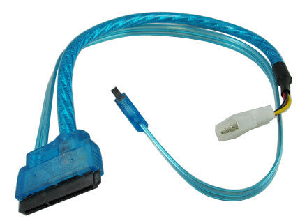 CG 18 inch SATA 3.0 and SATA POWER 15 pin combo cable,UV Blue Color #OK105