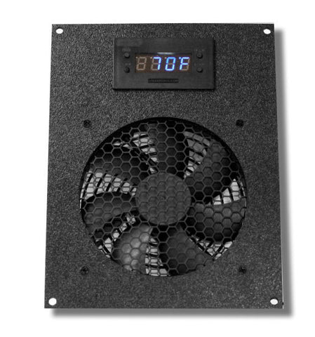 CG Cabcool1201 Deluxe single 120mm Fan Cooling unit with LED Thermal Control and Monitor for Cabinet / Home Theaters