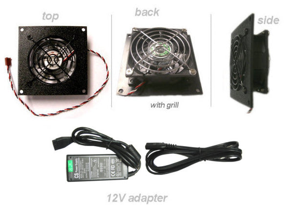 CG CabCool801 Single 80mm Fan Cooling kit for  Cabinet - Home Theaters