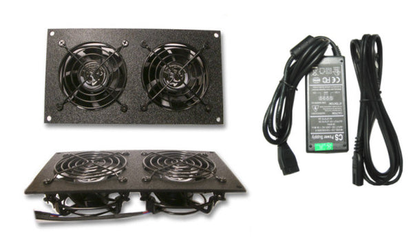 CG CabCool802 Dual 80mm Fan Cooling kit for  Cabinet - Home Theaters