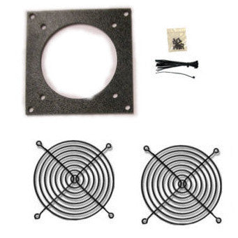 CG Fan Bracket  (1 hole/ Bare Kit ) 80mm kit for Cabinet Cooling - Coolerguys